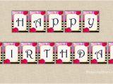 Happy Birthday Banner Gold Printable Printable Happy Birthday Banner Black and White Stripes