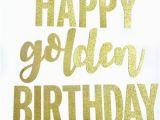Happy Birthday Banner Golden Golden Birthday Etsy