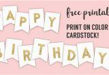 Happy Birthday Banner Golden Happy Birthday Banner Printable Template Paper Trail Design
