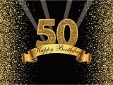 Happy Birthday Banner Golden Happy Happy 50th Birthday Party Gold Dots Sequins Banner