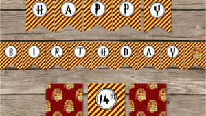 Happy Birthday Banner Harry Potter Printable Harry Potter Inspired Happy Birthday Banner Diy Harry