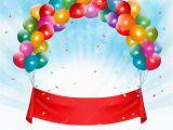Happy Birthday Banner Hd Happy Birthday Banner Background Stock Vector