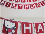 Happy Birthday Banner Hello Kitty Hello Kitty Banner Happy Birthday by Cutethingsbyting On Etsy