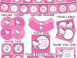 Happy Birthday Banner Hello Kitty Hello Kitty Birthday Free Printable Banner Nisartmacka Com