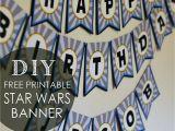 Happy Birthday Banner Homemade Diy Star Wars Birthday Banner Free Printables Posh Tart