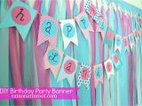Happy Birthday Banner Homemade Say It Out Loud Adorable Homemade Birthday Banners