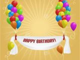 Happy Birthday Banner Images Hd Happy Birthday Banner with Balloons Stock Vector