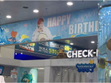 Happy Birthday Banner In Chinese Chinese Fans Customize An Aquarium for Bts V 39 S Birthday