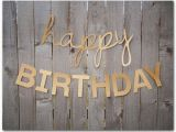 Happy Birthday Banner In Gold Gold Glitter Happy Birthday Banner 30 and 45 Inches Long