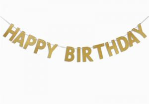 Happy Birthday Banner In Usa Happy Birthday Banner Chic Glitter Gold Party Decorations