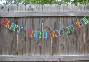 Happy Birthday Banner In Usa Personalized Happy Birthday Banner Made to order