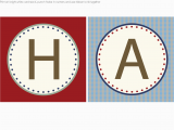 Happy Birthday Banner Individual Letters Sailboat Party Collection and Free Printables A Party
