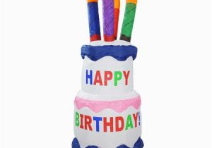 Happy Birthday Banner Inflatable 4 39 Inflatable Lighted Happy Birthday Cake Outdoor