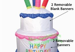 Happy Birthday Banner Inflatable Air Blown Inflatable Birthday Cake