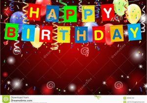 Happy Birthday Banner Inflatable Happy Birthday Party Background with Confetti and Balloons