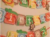 Happy Birthday Banner Jungle theme Jungle Birthday Banner Safari Birthday Banner by