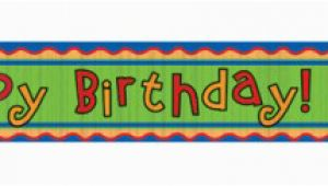 Happy Birthday Banner Jungle theme Jungle themed Happy Birthday Wall Banner Roll Made Of