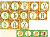Happy Birthday Banner Jungle theme Safari Printable Banner Safari Banner Jungle Banner Happy