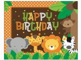 Happy Birthday Banner Jungle theme Safari themed B 39 Day Party On Behance