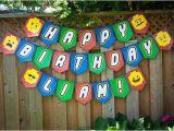 Happy Birthday Banner Lego Lego Birthday Banner Lego Banner Download Print by