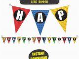 Happy Birthday Banner Lego Lego Birthday Party Banner Lego Happy Birthday Banner by