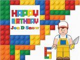 Happy Birthday Banner Lego Lego Bricks Happy Birthday Banner Party Decoration Kids