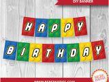Happy Birthday Banner Lego Lego Happy Birthday Etsy
