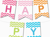 Happy Birthday Banner Letter Template Chevron Pennant Banner In 12 Colors Justin 39 S Surprise