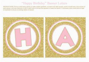 Happy Birthday Banner Letters Pdf Printable Birthday Banner Letters Letter Bestkitchenview Co