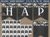 Happy Birthday Banner Lights Happy Birthday Banner Chalkboard Lights Nifty Printables