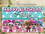 Happy Birthday Banner Lol Lol Dolls Glitter Edition Birthday Banner Backdrop High