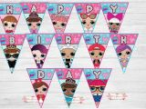 Happy Birthday Banner Lol Lol Surprise Birthday Banner Digital File 5th Bday