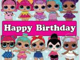 Happy Birthday Banner Lol Lol Surprise Dolls Happy Birthday Lol Surprise Party