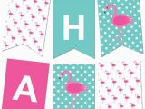 Happy Birthday Banner Maker Free Flamingo Polka Dot Pennant Banner Pink Flamingo Party