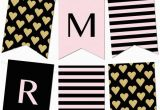 Happy Birthday Banner Maker Free Striped Gold Heart Banner Bbq Ideas Free Printable
