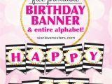 Happy Birthday Banner Maker Online Free Free Printable Happy Birthday Banner and Alphabet the