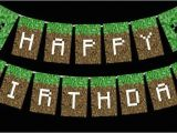 Happy Birthday Banner Minecraft Printable Minecraft Happy Birthday Card Printable Minecraft