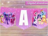 Happy Birthday Banner My Little Pony Little Pony Banner Etsy