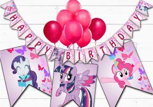 Happy Birthday Banner My Little Pony My Little Pony Birthday Banner Printable Digital My Little