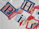 Happy Birthday Banner Nautical theme Nautical Happy Birthday Banner Sailing themed by