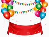 Happy Birthday Banner New Hd Holiday Birthday Banner with Balloons Stock Vector