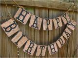 Happy Birthday Banner New Look Barn Wood Look Birthday Banner Rustic Birthday Cowboy