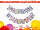 Happy Birthday Banner New Look Free Printable Birthday Banner