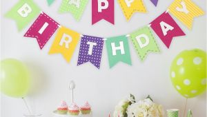 Happy Birthday Banner New Look Happy Birthday Banner Girly Brights Shopdecomod