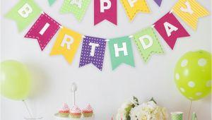 Happy Birthday Banner New Look Happy Birthday Banner Girly Brights Shopdecomod