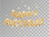 Happy Birthday Banner No Background Gold Balloons Happy Birthday1 Stock Vector Illustration