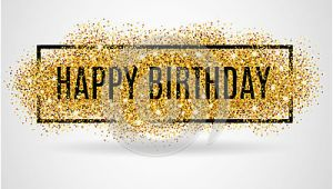 Happy Birthday Banner No Background Gold Happy Birthday Stock Vector Image 67423577