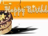 Happy Birthday Banner On Cake Happy Birthday Banner orange Cake Vinyl Banners