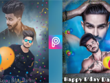 Happy Birthday Banner Online Editing Happy Birthday Photo Editing In Picsart Like Photoshop by