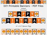 Happy Birthday Banner orange Happy Birthday Banner Black orange Jack O Lantern Etsy